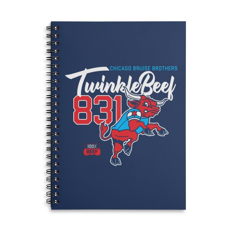 Skater Series: TwinkleBeef Accessories Lined Spiral Notebook by Chicago Bruise Brothers Roller Derby