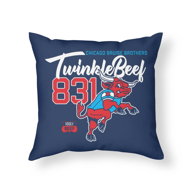 Skater Series: TwinkleBeef Home Throw Pillow by Chicago Bruise Brothers Roller Derby