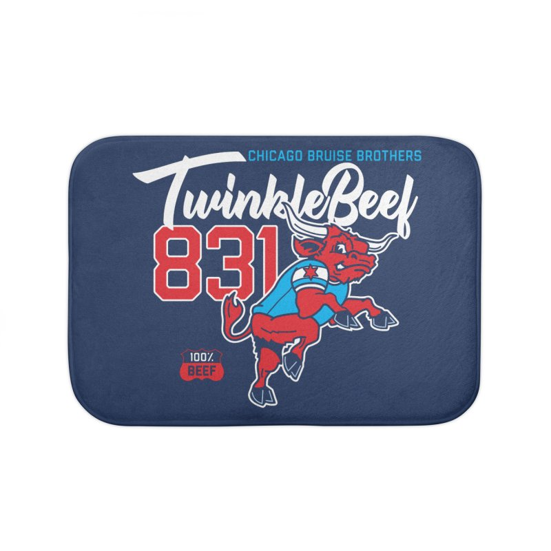 Skater Series: TwinkleBeef Home Bath Mat by Chicago Bruise Brothers Roller Derby