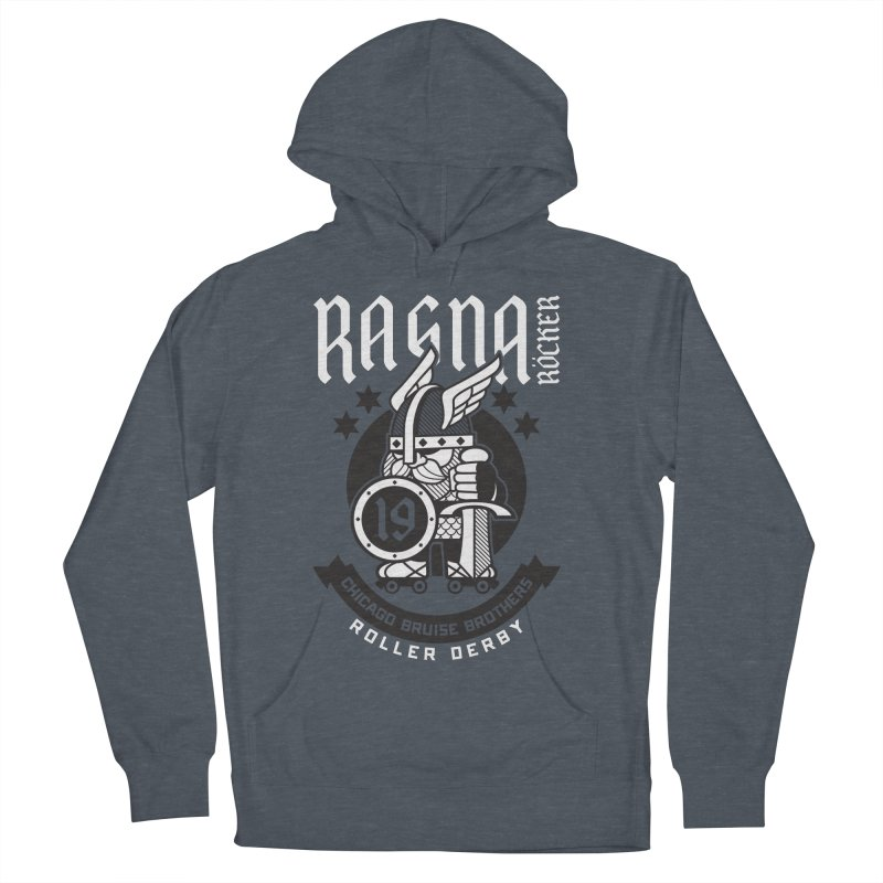 Skater Series: Ragna Röcker Men's French Terry Pullover Hoody by Chicago Bruise Brothers Roller Derby