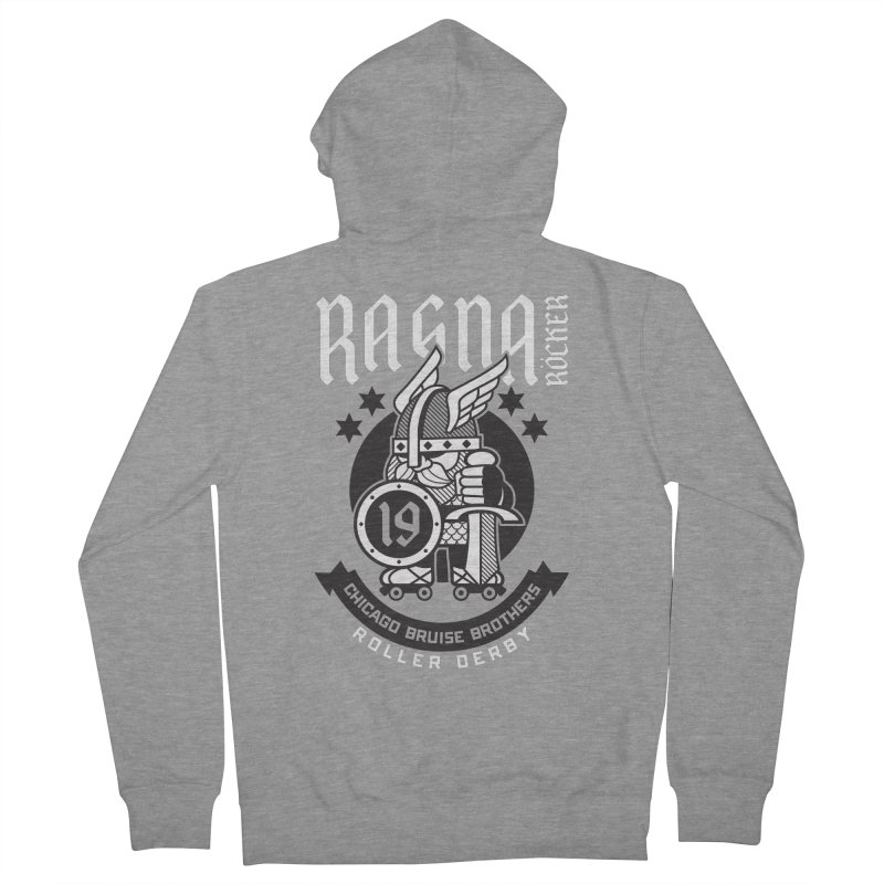 Skater Series: Ragna Röcker Women's French Terry Zip-Up Hoody by Chicago Bruise Brothers Roller Derby