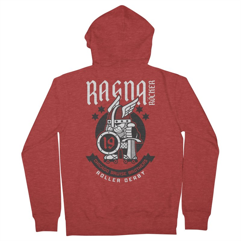 Skater Series: Ragna Röcker Men's French Terry Zip-Up Hoody by Chicago Bruise Brothers Roller Derby