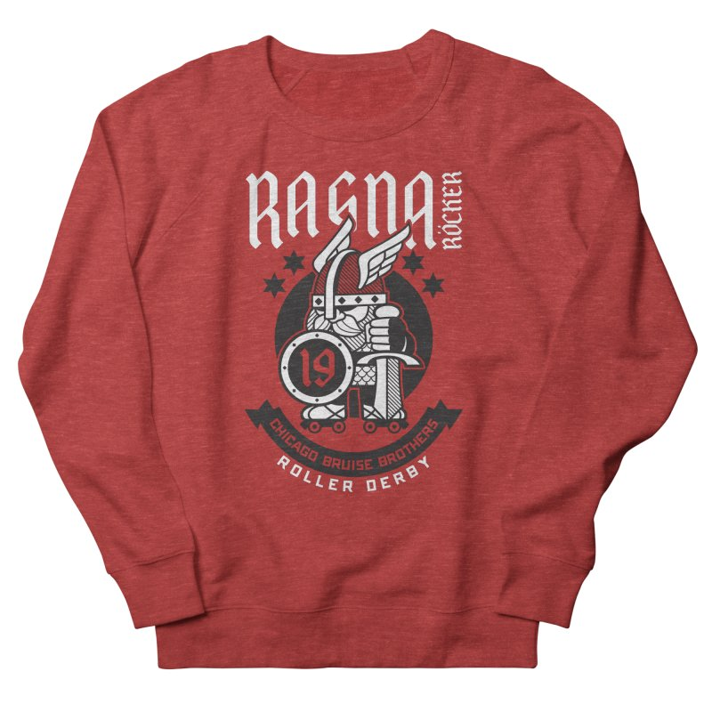 Skater Series: Ragna Röcker Men's French Terry Sweatshirt by Chicago Bruise Brothers Roller Derby