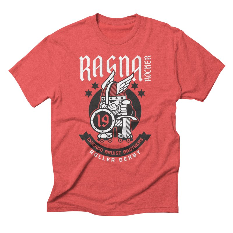 Skater Series: Ragna Röcker Men's Triblend T-Shirt by Chicago Bruise Brothers Roller Derby