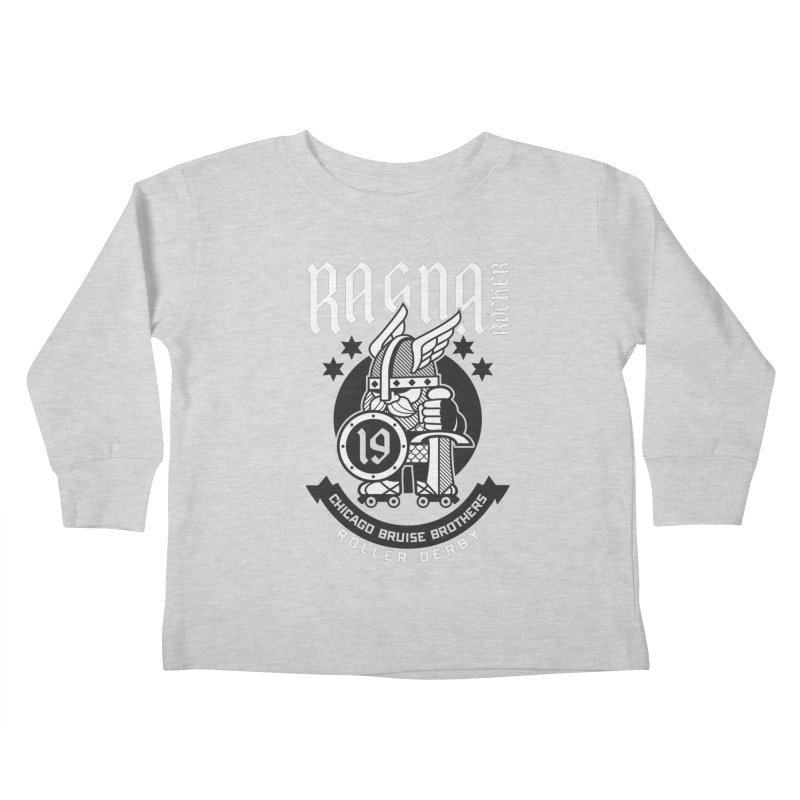 Skater Series: Ragna Röcker Kids Toddler Longsleeve T-Shirt by Chicago Bruise Brothers Roller Derby