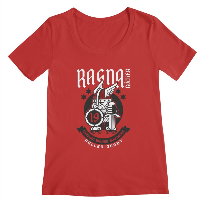 Skater Series: Ragna Röcker Women's Regular Scoop Neck by Chicago Bruise Brothers Roller Derby