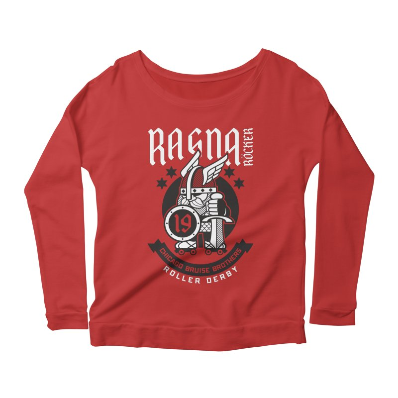 Skater Series: Ragna Röcker Women's Scoop Neck Longsleeve T-Shirt by Chicago Bruise Brothers Roller Derby
