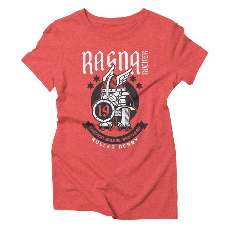 Skater Series: Ragna Röcker Women's Triblend T-Shirt by Chicago Bruise Brothers Roller Derby