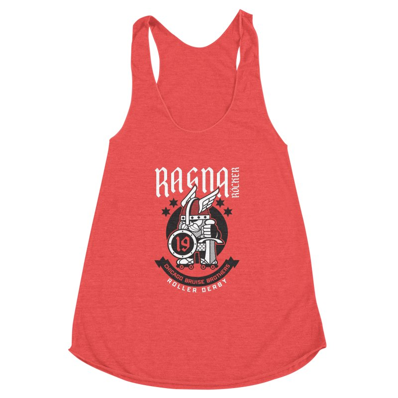 Skater Series: Ragna Röcker Women's Racerback Triblend Tank by Chicago Bruise Brothers Roller Derby