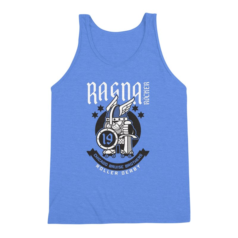 Skater Series: Ragna Röcker Men's Triblend Tank by Chicago Bruise Brothers Roller Derby