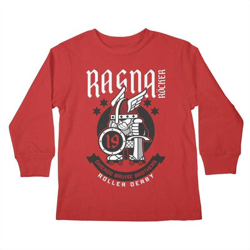 Skater Series: Ragna Röcker Kids Longsleeve T-Shirt by Chicago Bruise Brothers Roller Derby