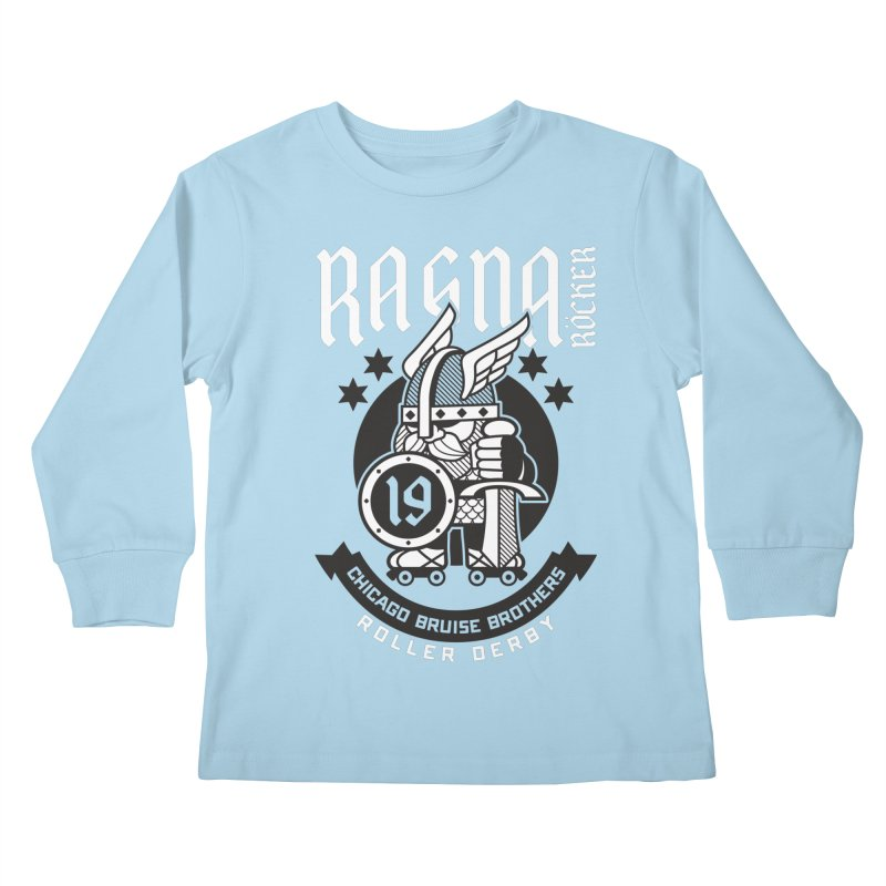 Skater Series: Ragna Röcker Kids Longsleeve T-Shirt by Chicago Bruise Brothers Roller Derby