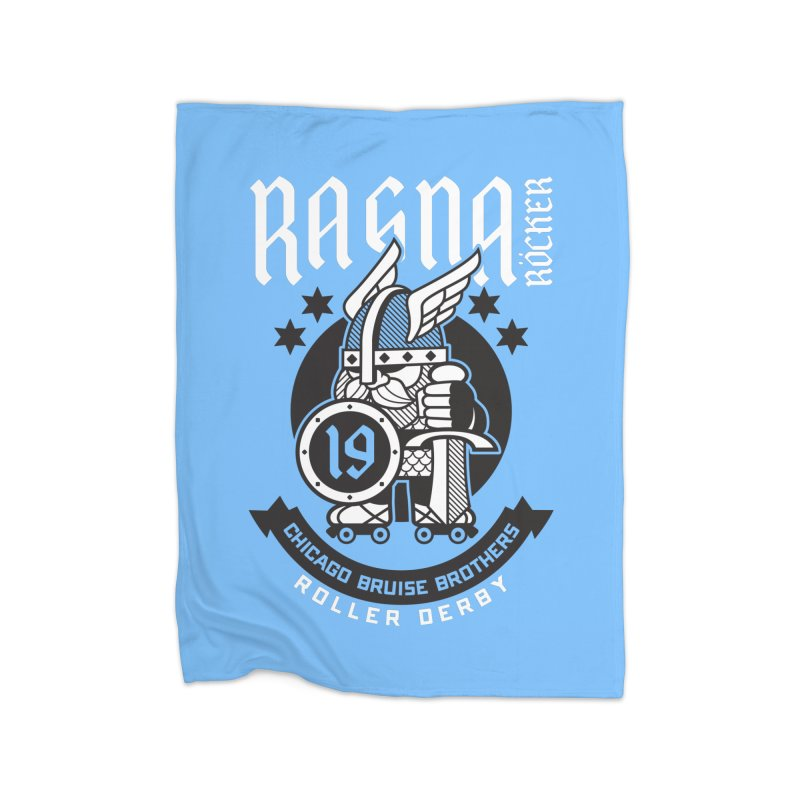 Skater Series: Ragna Röcker Home Fleece Blanket Blanket by Chicago Bruise Brothers Roller Derby