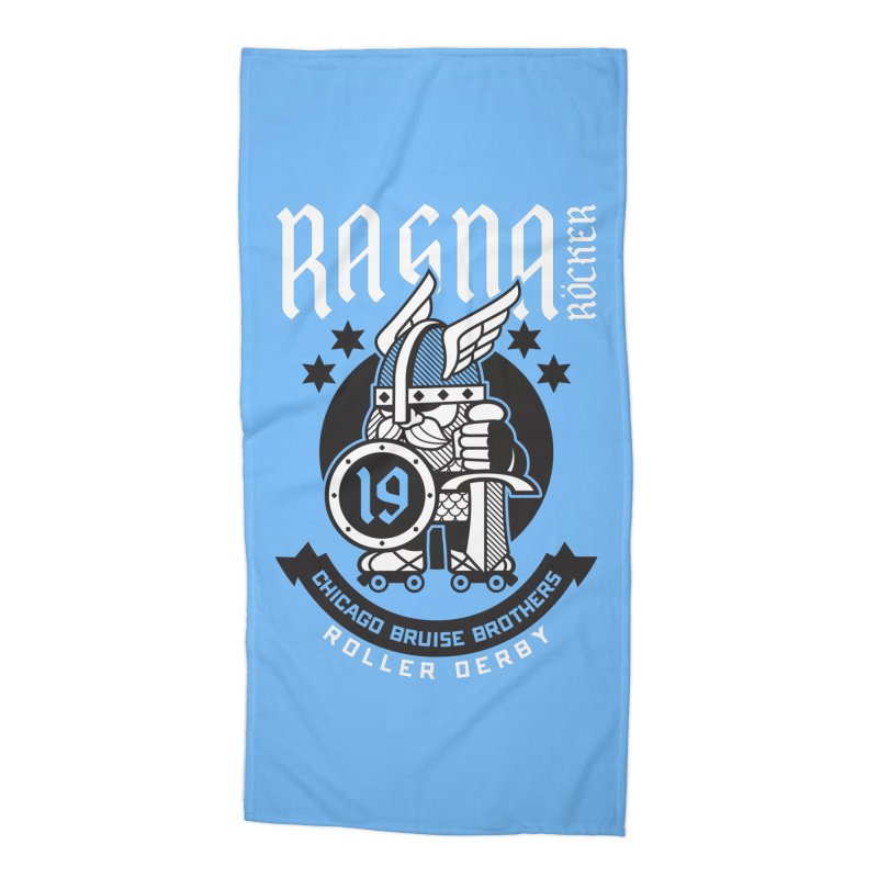 Skater Series: Ragna Röcker Accessories Beach Towel by Chicago Bruise Brothers Roller Derby