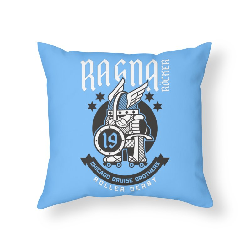 Skater Series: Ragna Röcker Home Throw Pillow by Chicago Bruise Brothers Roller Derby