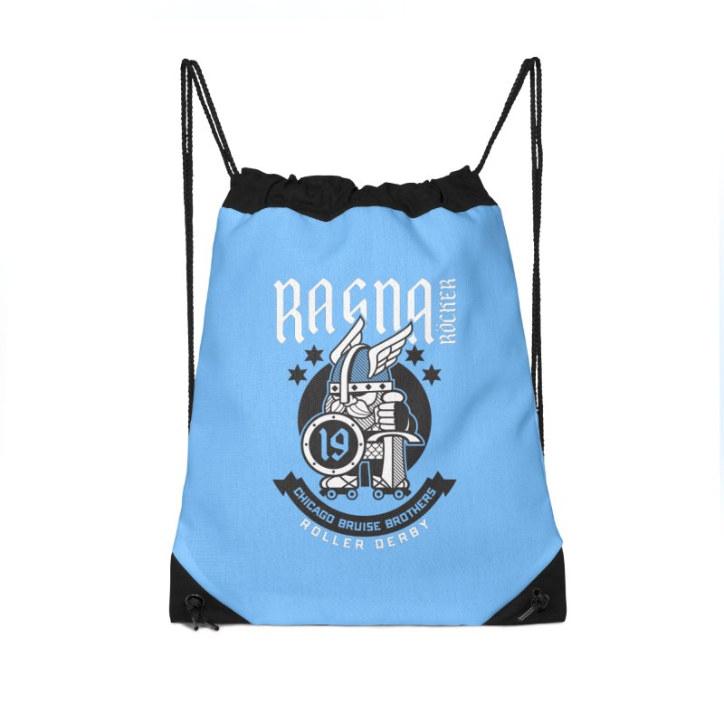 Skater Series: Ragna Röcker Accessories Drawstring Bag Bag by Chicago Bruise Brothers Roller Derby