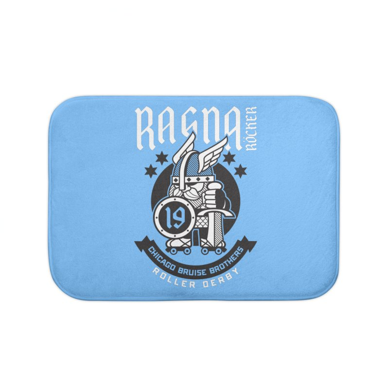 Skater Series: Ragna Röcker Home Bath Mat by Chicago Bruise Brothers Roller Derby