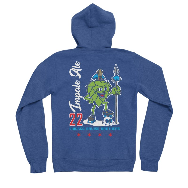 Skater Series: Impale Ale Women's Sponge Fleece Zip-Up Hoody by Chicago Bruise Brothers Roller Derby