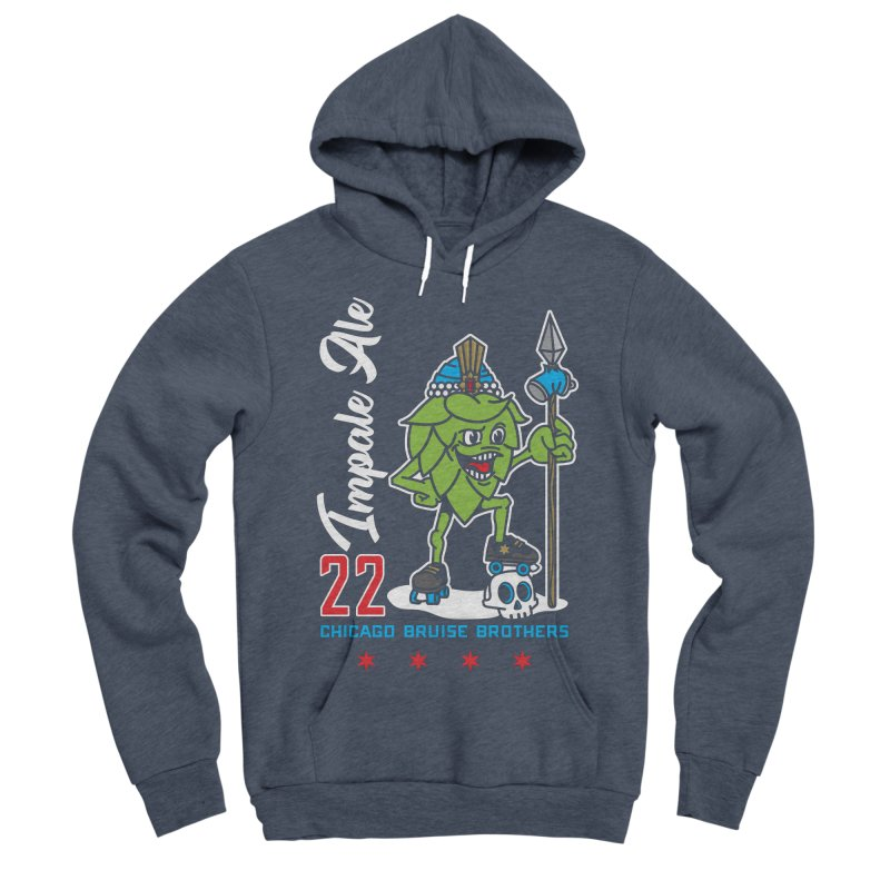 Skater Series: Impale Ale Women's Sponge Fleece Pullover Hoody by Chicago Bruise Brothers Roller Derby
