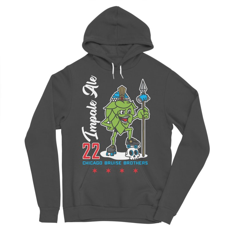 Skater Series: Impale Ale Men's Sponge Fleece Pullover Hoody by Chicago Bruise Brothers Roller Derby
