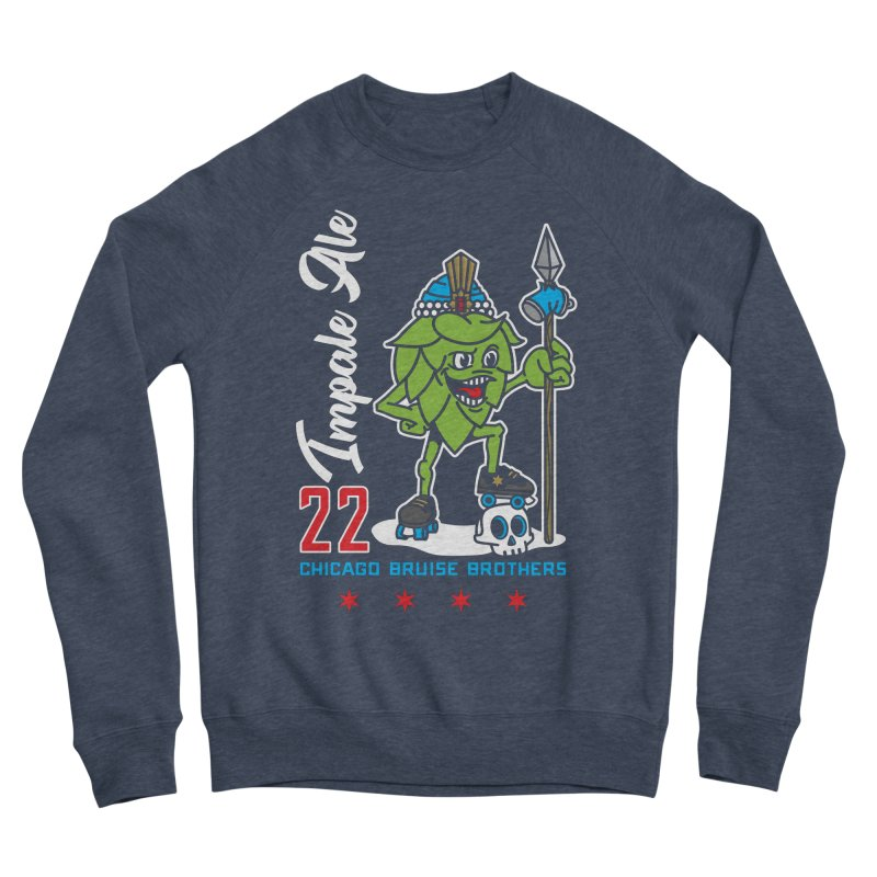 Skater Series: Impale Ale Women's Sponge Fleece Sweatshirt by Chicago Bruise Brothers Roller Derby
