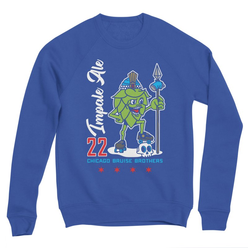 Skater Series: Impale Ale Men's Sponge Fleece Sweatshirt by Chicago Bruise Brothers Roller Derby
