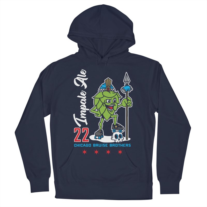 Skater Series: Impale Ale Women's French Terry Pullover Hoody by Chicago Bruise Brothers Roller Derby