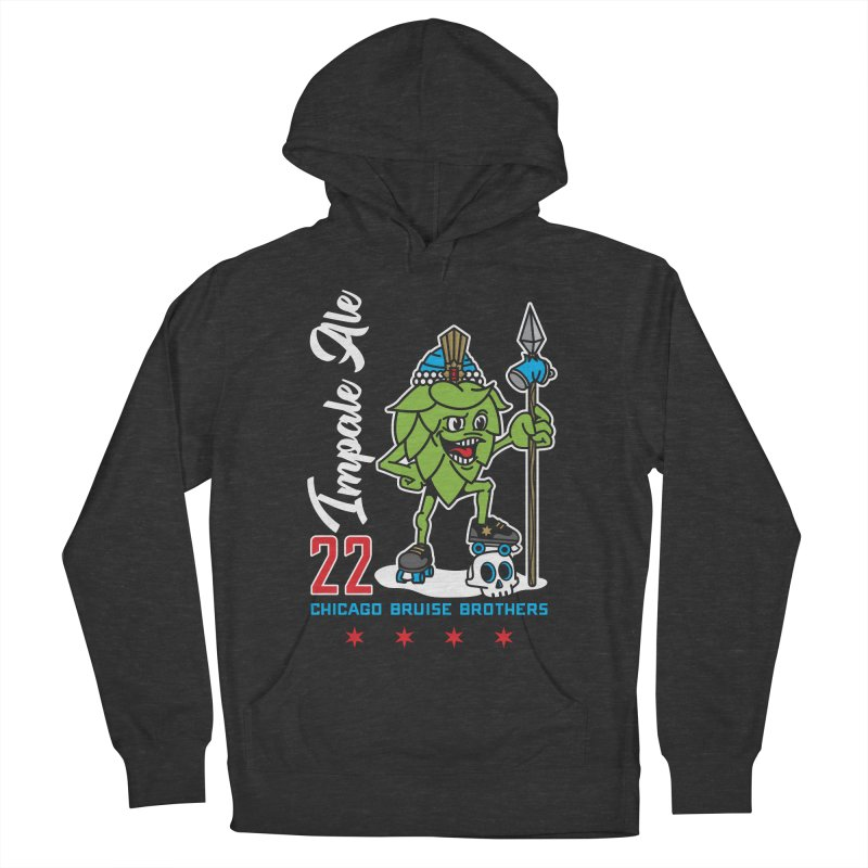 Skater Series: Impale Ale Men's French Terry Pullover Hoody by Chicago Bruise Brothers Roller Derby