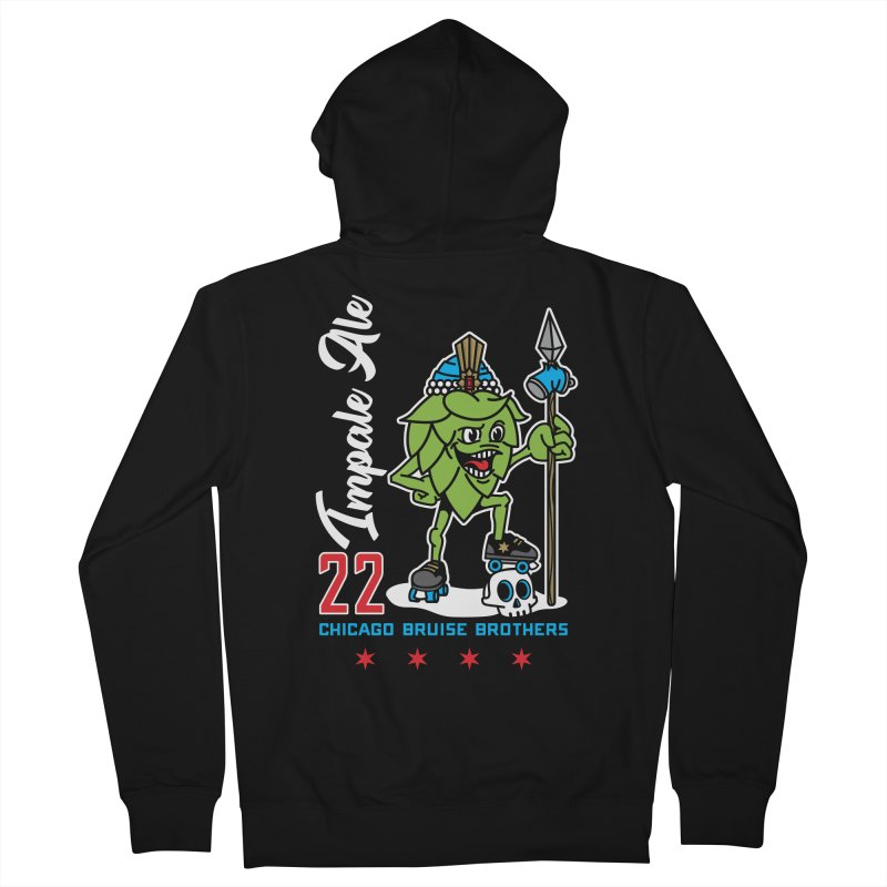 Skater Series: Impale Ale Women's French Terry Zip-Up Hoody by Chicago Bruise Brothers Roller Derby