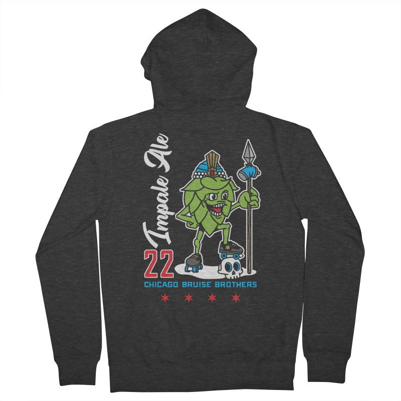 Skater Series: Impale Ale Men's French Terry Zip-Up Hoody by Chicago Bruise Brothers Roller Derby