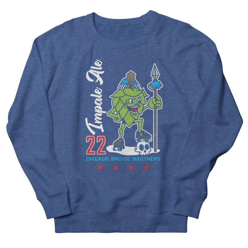 Skater Series: Impale Ale Women's French Terry Sweatshirt by Chicago Bruise Brothers Roller Derby