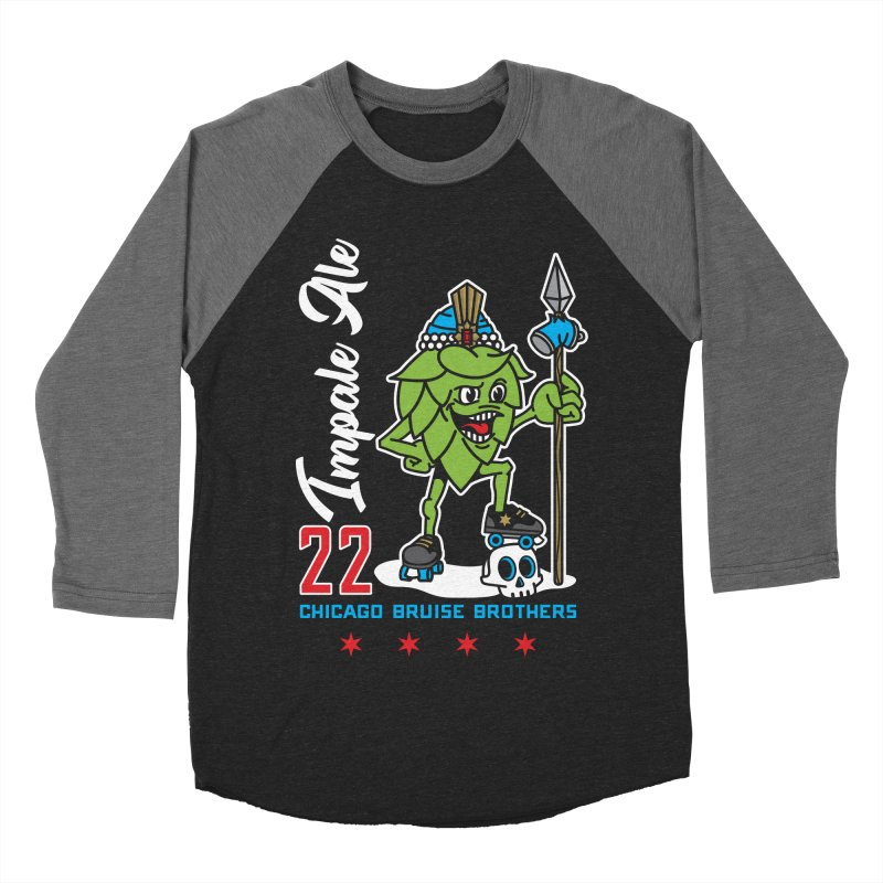 Skater Series: Impale Ale Women's Baseball Triblend Longsleeve T-Shirt by Chicago Bruise Brothers Roller Derby