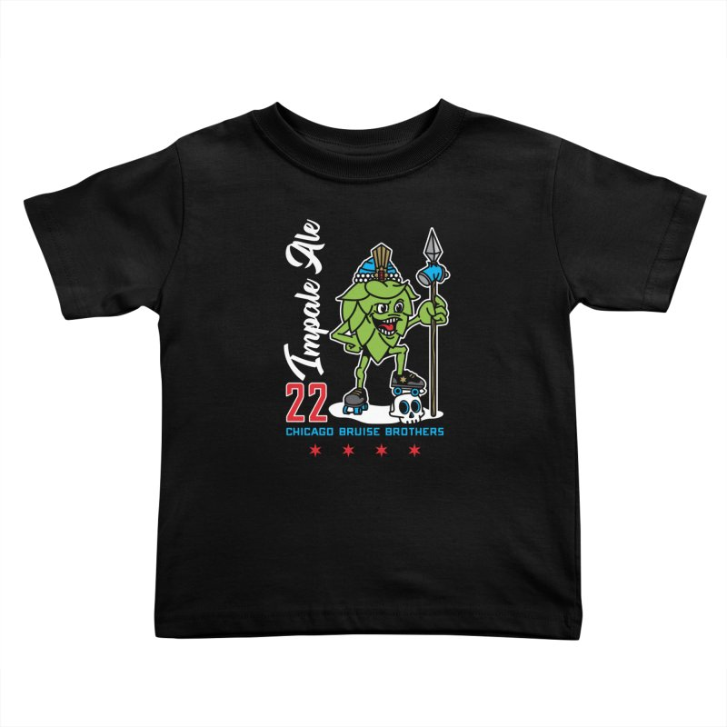 Skater Series: Impale Ale Kids Toddler T-Shirt by Chicago Bruise Brothers Roller Derby