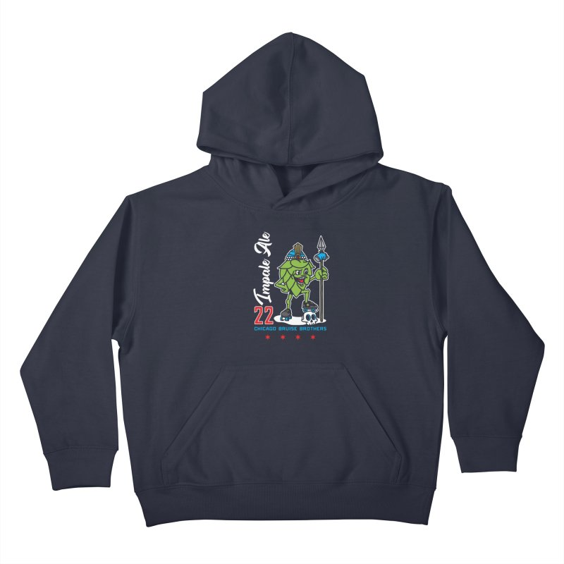 Skater Series: Impale Ale Kids Pullover Hoody by Chicago Bruise Brothers Roller Derby