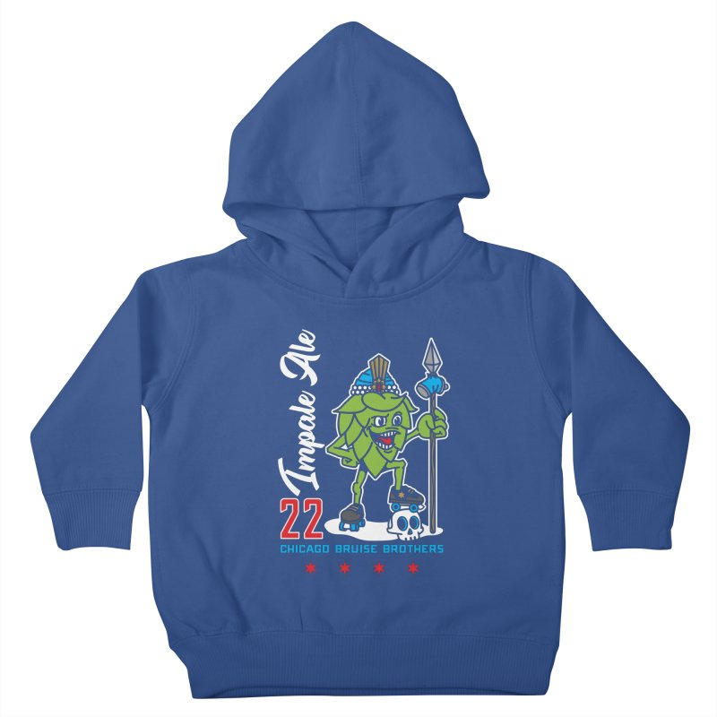 Skater Series: Impale Ale Kids Toddler Pullover Hoody by Chicago Bruise Brothers Roller Derby