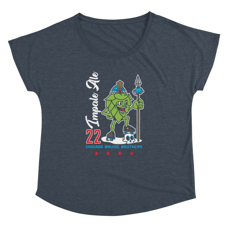 Skater Series: Impale Ale Women's Dolman Scoop Neck by Chicago Bruise Brothers Roller Derby