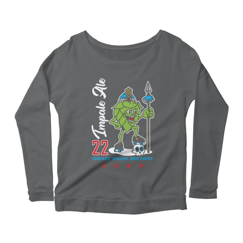 Skater Series: Impale Ale Women's Scoop Neck Longsleeve T-Shirt by Chicago Bruise Brothers Roller Derby