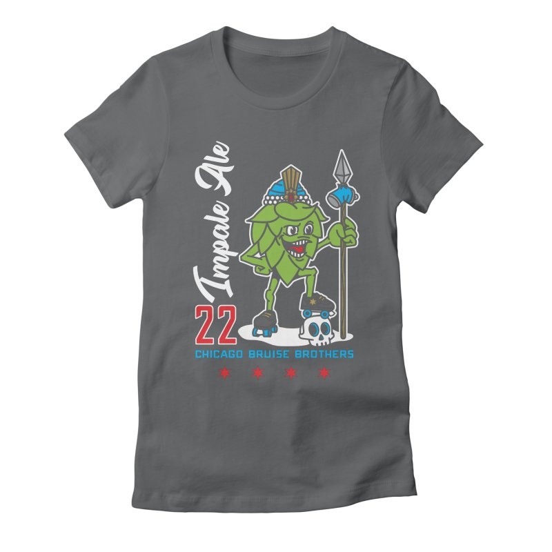 Skater Series: Impale Ale Women's Fitted T-Shirt by Chicago Bruise Brothers Roller Derby
