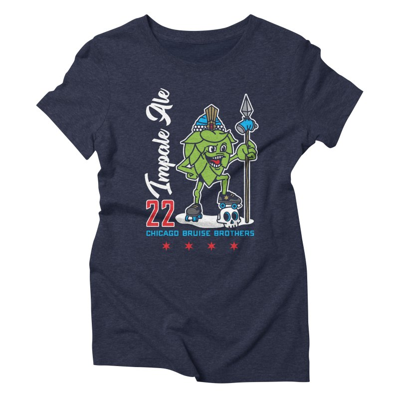 Skater Series: Impale Ale Women's Triblend T-Shirt by Chicago Bruise Brothers Roller Derby