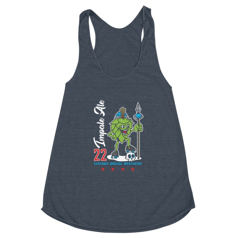 Skater Series: Impale Ale Women's Racerback Triblend Tank by Chicago Bruise Brothers Roller Derby