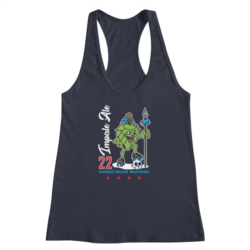 Skater Series: Impale Ale Women's Racerback Tank by Chicago Bruise Brothers Roller Derby