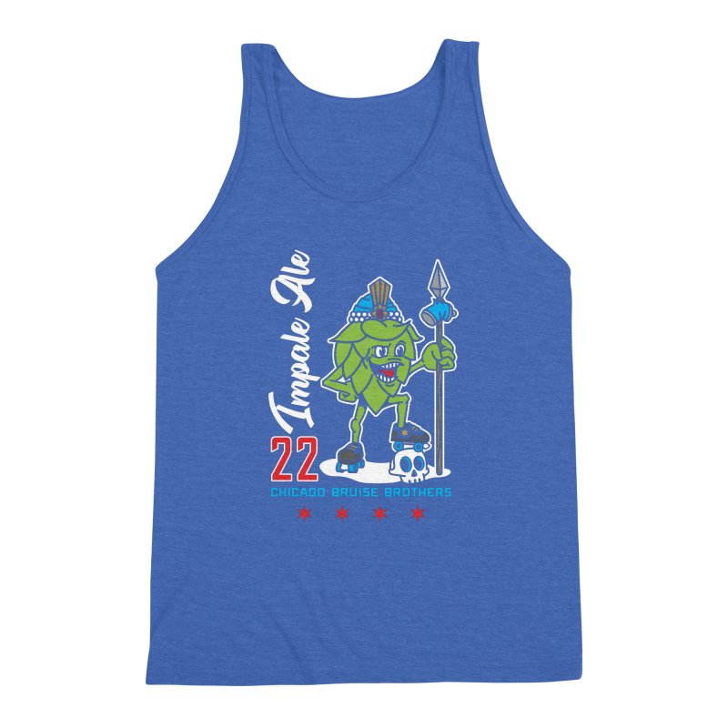 Skater Series: Impale Ale Men's Triblend Tank by Chicago Bruise Brothers Roller Derby