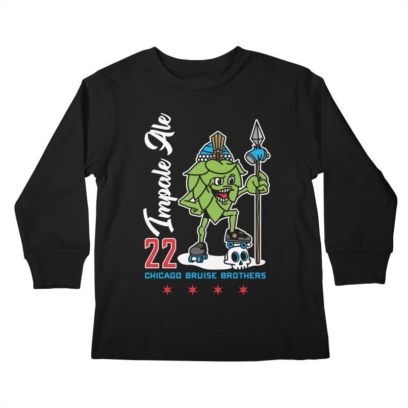 Skater Series: Impale Ale Kids Longsleeve T-Shirt by Chicago Bruise Brothers Roller Derby