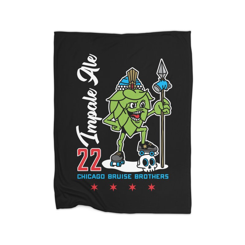 Skater Series: Impale Ale Home Fleece Blanket Blanket by Chicago Bruise Brothers Roller Derby