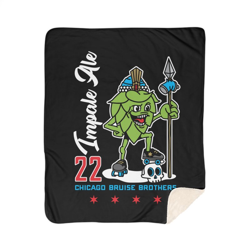 Skater Series: Impale Ale Home Sherpa Blanket Blanket by Chicago Bruise Brothers Roller Derby