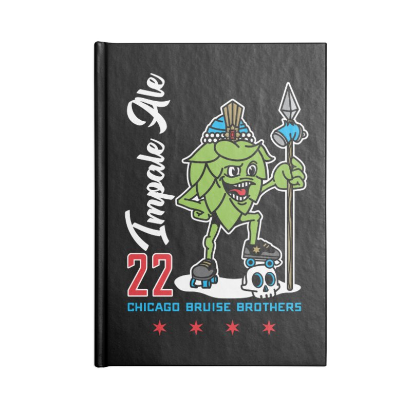 Skater Series: Impale Ale Accessories Lined Journal Notebook by Chicago Bruise Brothers Roller Derby