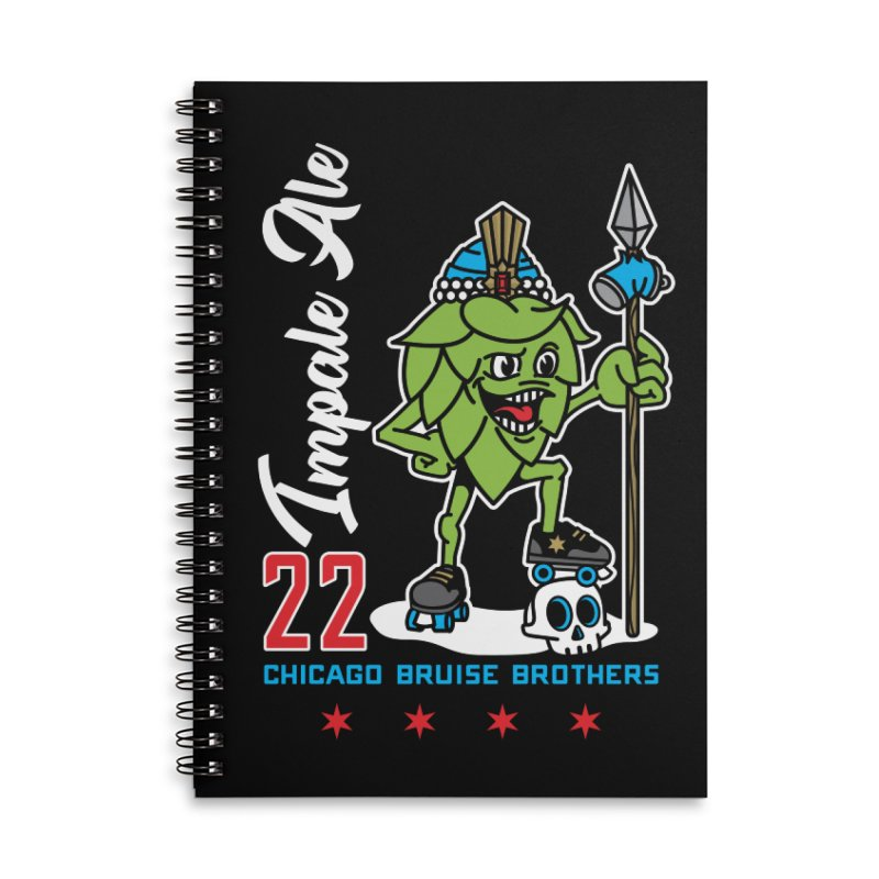 Skater Series: Impale Ale Accessories Lined Spiral Notebook by Chicago Bruise Brothers Roller Derby