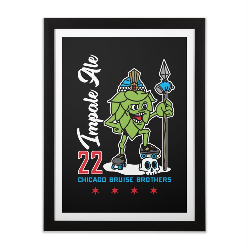 Skater Series: Impale Ale Home Framed Fine Art Print by Chicago Bruise Brothers Roller Derby