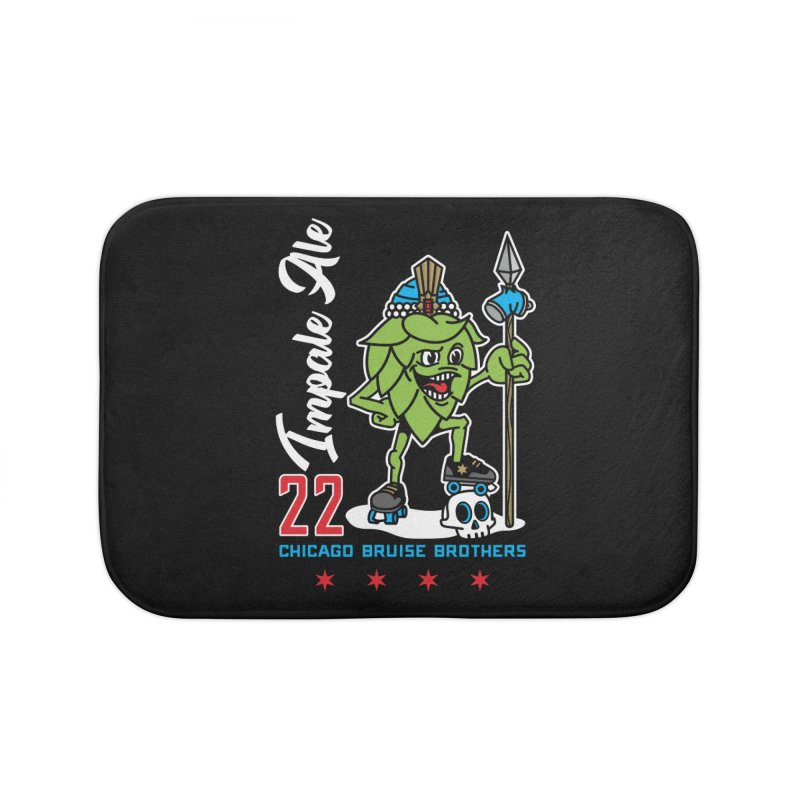 Skater Series: Impale Ale Home Bath Mat by Chicago Bruise Brothers Roller Derby