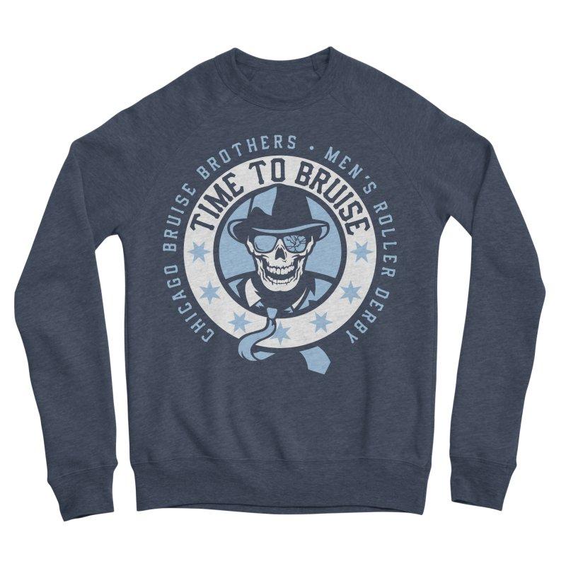 Do Work Men's Sponge Fleece Sweatshirt by Chicago Bruise Brothers Roller Derby